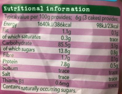 aldi raspberry rice cakes organix