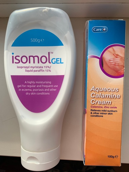 Isomol Gel and Aqueous Calamine Cream