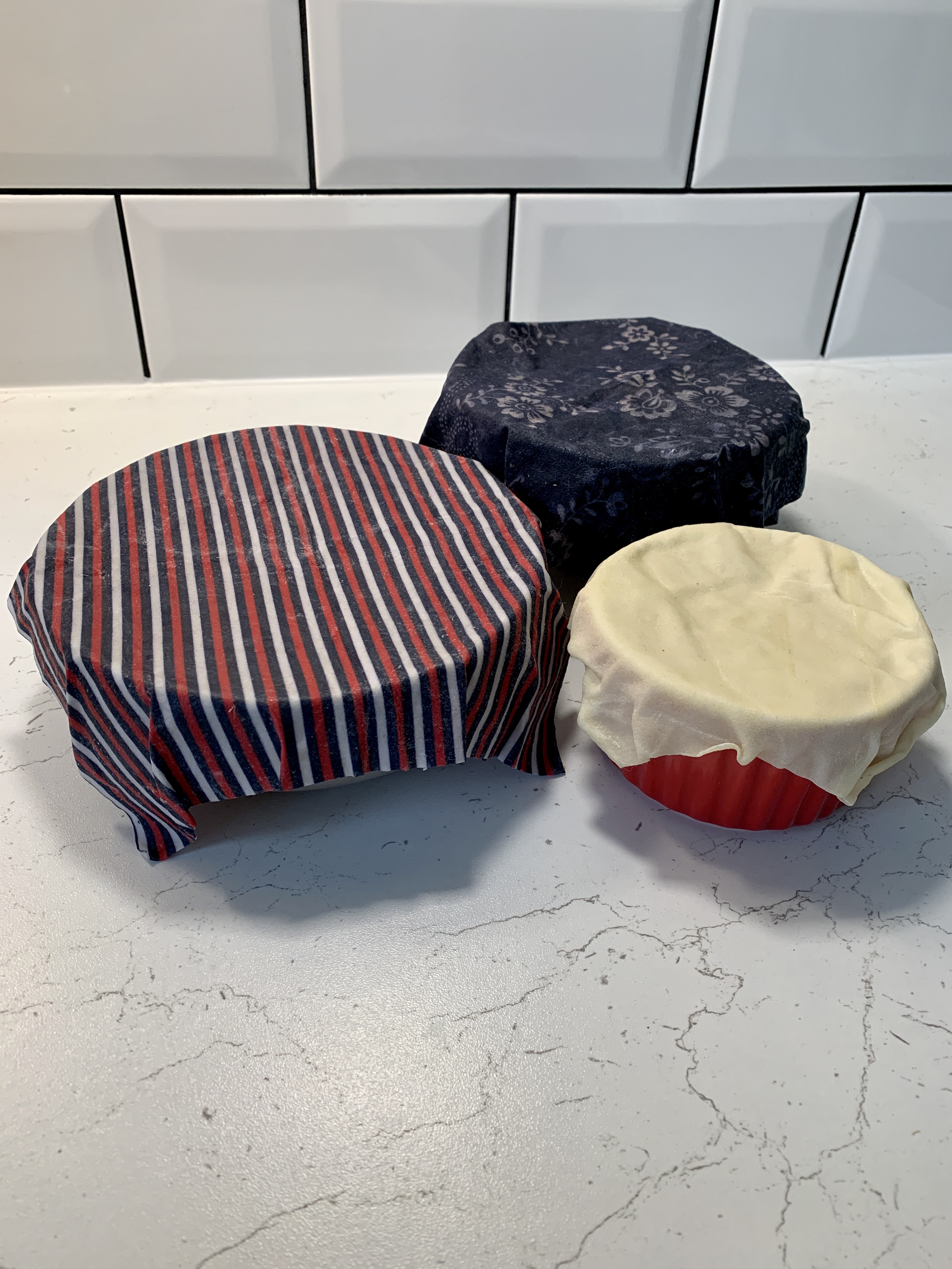beeswax wraps in use